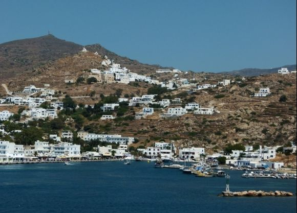 View to port and village