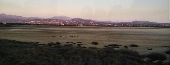 dry salt lake....
