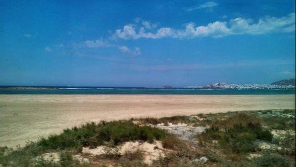 View to Naxos town