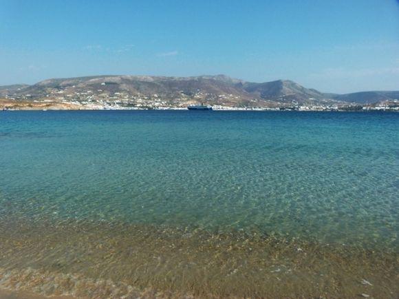 View to Parikia from Marchellos beach