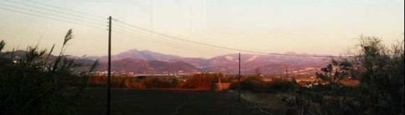 mountains in the sunsetlight...