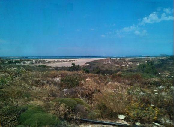 natural beach....