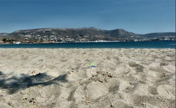 lying on the beach.....