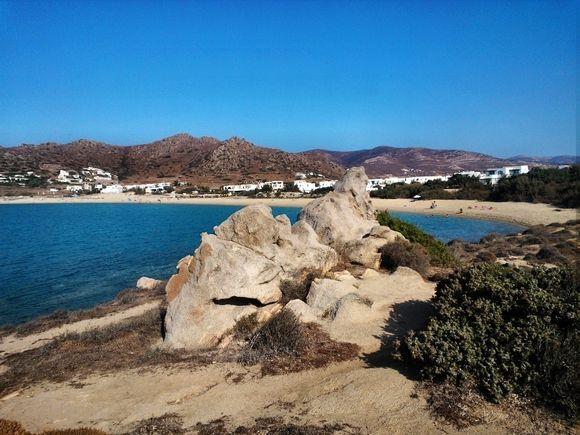 view to Orkos beach