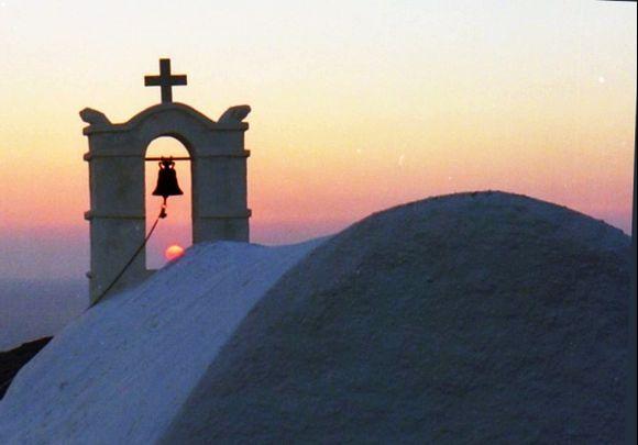 Belltower at sunset