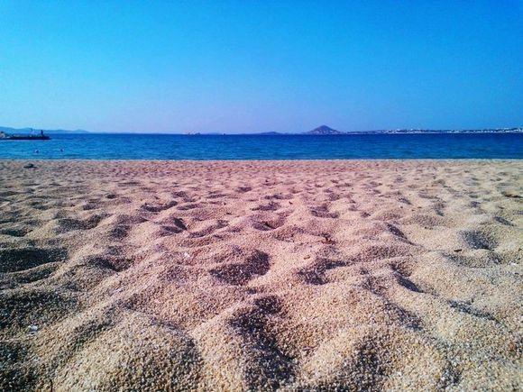 on the beach....