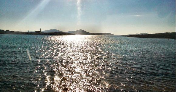 glittering water
