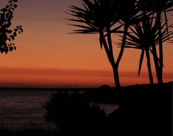 Red sunset ... far the Gerogompos lighthouse
