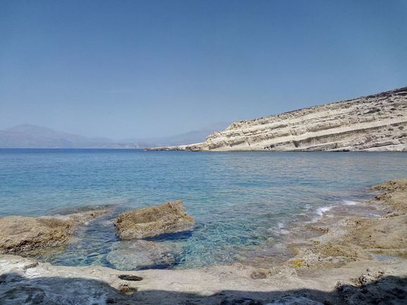 Perfect snorkeling place in Matala