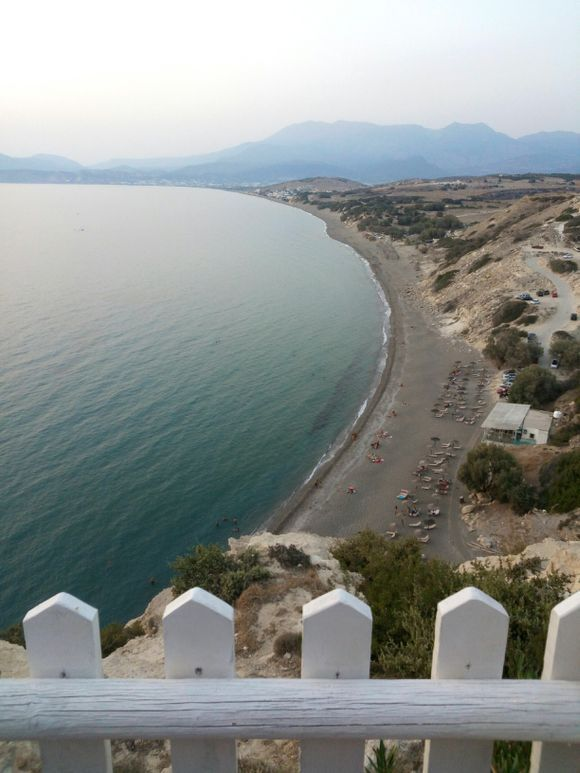 Komos beach from above