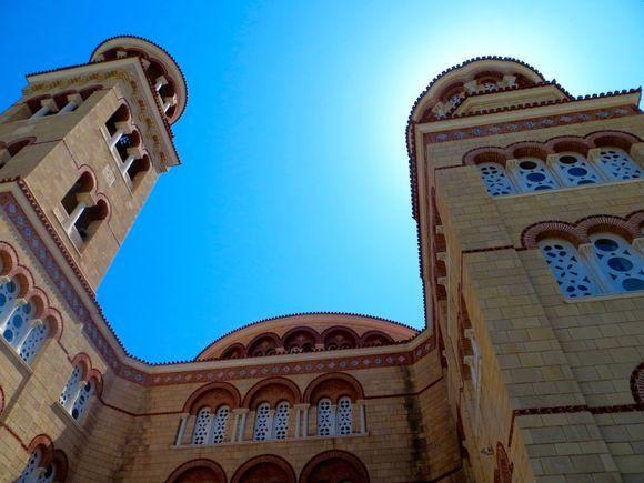 Monastery and the sky