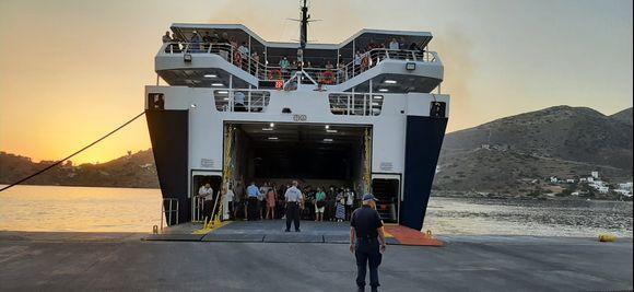 Boarding the Artemis (Hellenic Seaway)