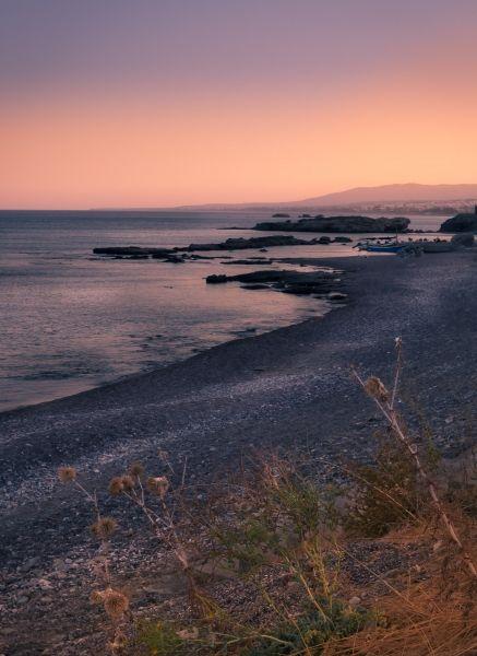 Sunset on the beach of Kiotari