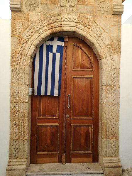 Patriotic door, Lindos