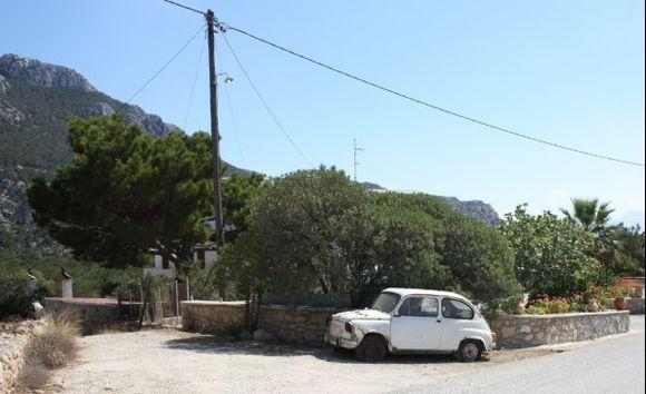 Sweet toddler Old Fiat 500