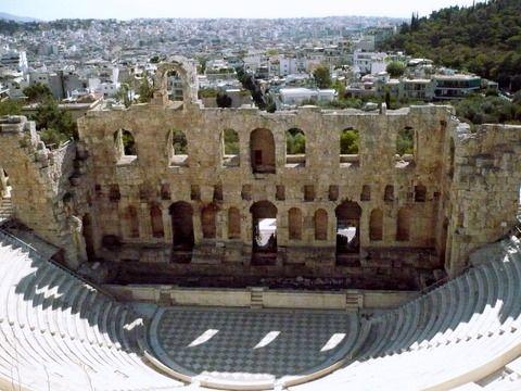 A Roman ampitheatre at foot of Acropolis, Athens
