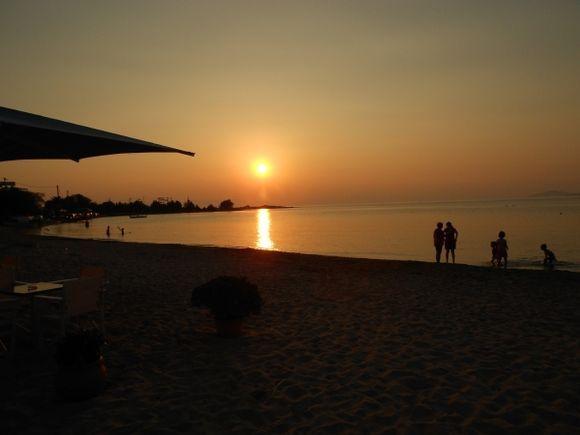 Sunset on Kontogoni beach