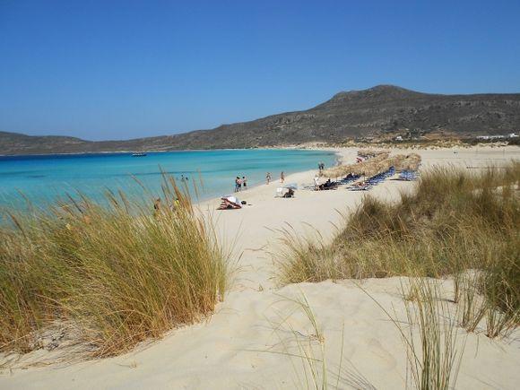 Sarakiniko beach beautiful shades of blue