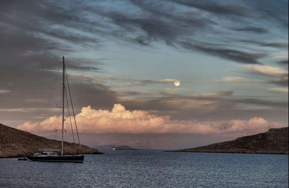 Moonrise over Rhodes