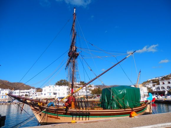 The Leigh Browne, the pirate ship in winter mode.