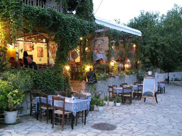 Aghios Nikitas - Poiseidon taverna, our favourite place to east