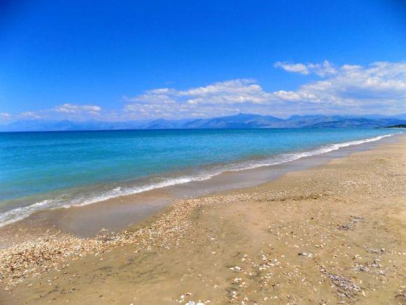 Corfu in May, Acharavi beach