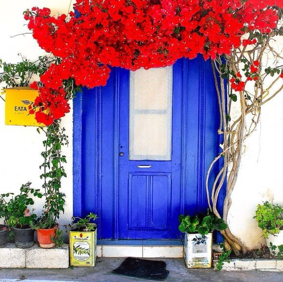The adorable little postoffice in Mochlos, on the north east coast of Crete
