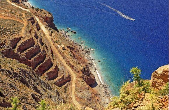 view of the gulf of mirabello, crete