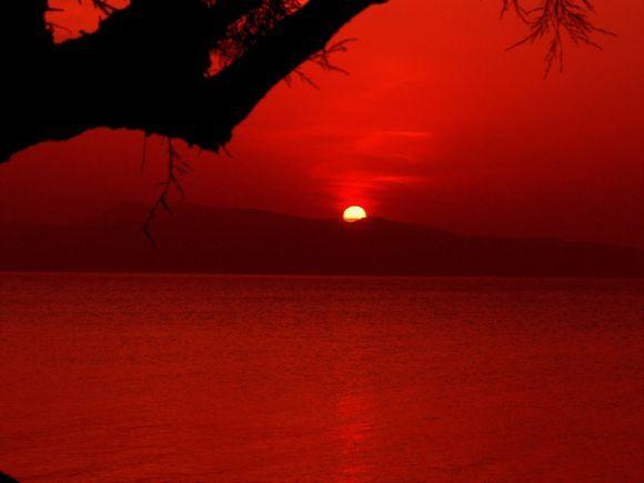 Sunset. Megalochori, Agistri island
