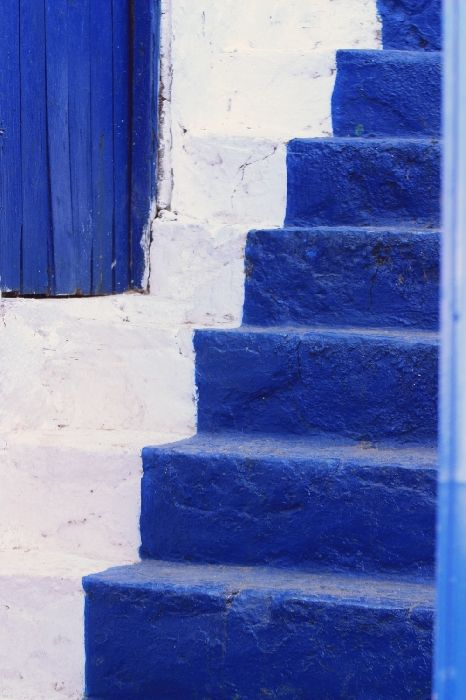 Blue door and steps, Hydra town