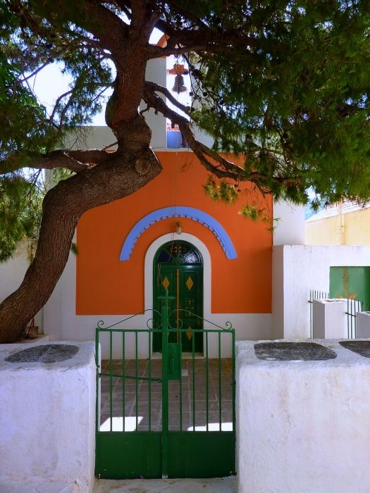 Church, tree and gate