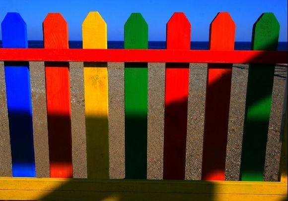 Wooden fence, Faliraki