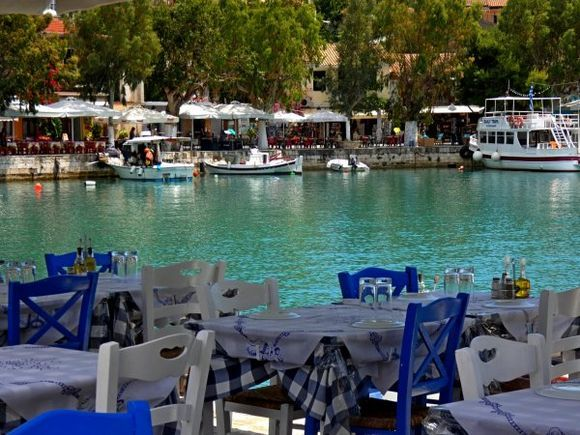 Waterfront with tavernas