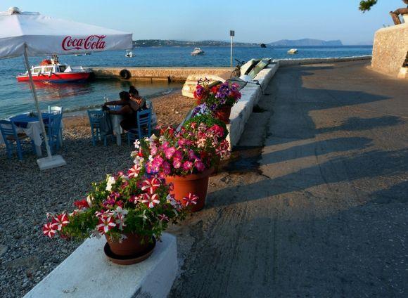 Beach with taverna
