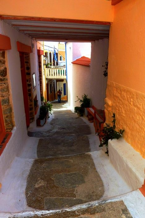 Colorful stepped street