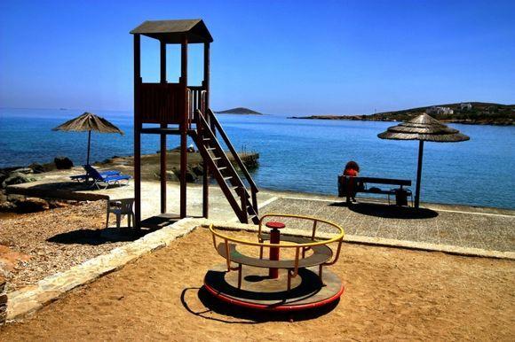 Summer scene near the water in Azolimnos