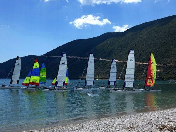 Beach and sails