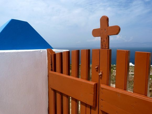 Entrance gate of church Panagia and Agios Ioannis