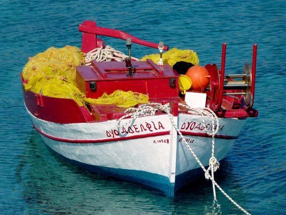 Multicolored fishing boat