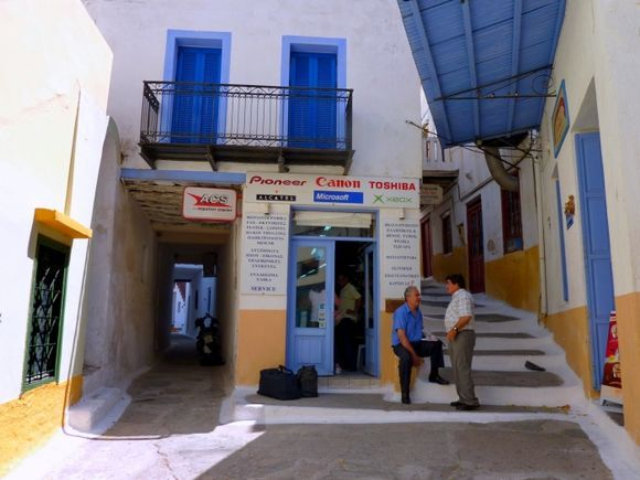Traditional covered stepped alleys