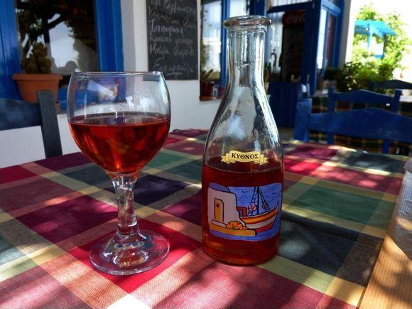 Taverna with Kythnos local wine