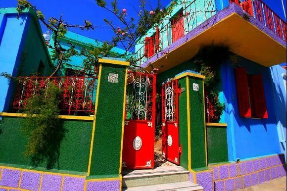 Multicolored house, Koskinou