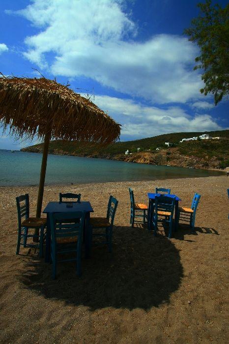 Kambos beach with taverna