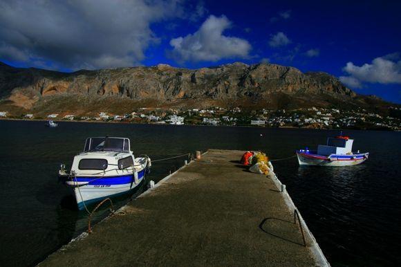 Pier on Telendos island