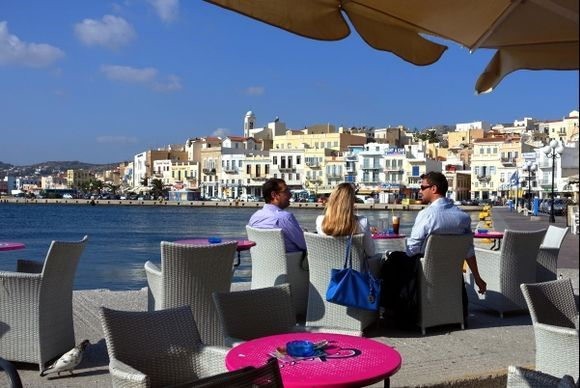 Relax at a seaside terrace