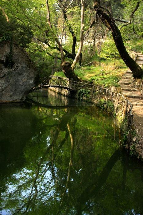 Bridge and reflections, Rodini Park