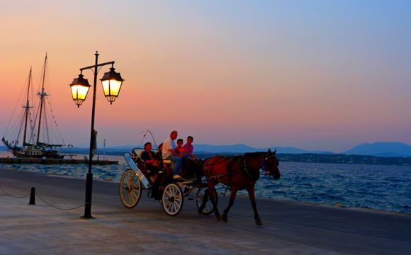 Waterfront with carriage