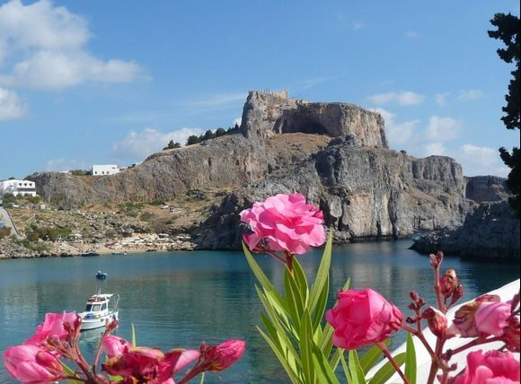 View from st pauls bay... lindos