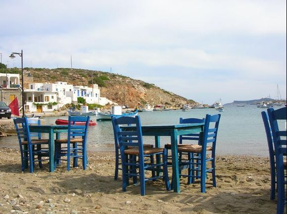 isn\'t it an invitation to take a meal with your feeth in the sandybeach and eat a greek salad and some fresh fish with a glas of white wine?
