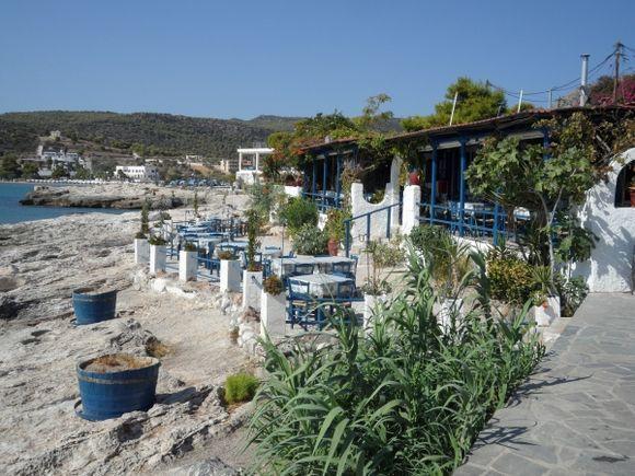 Faros Taverna on the rocks